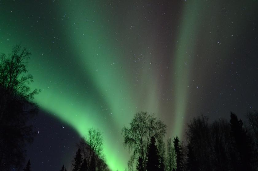 Aurora on the night of 28 February 2014,  Alaska