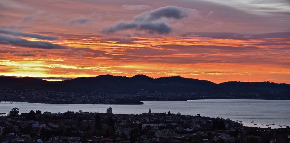 Autumn Dawn, Hobart, Australia